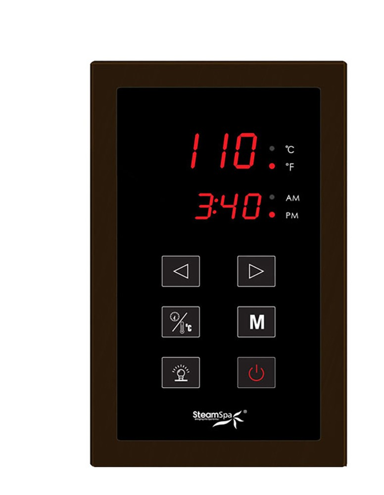 el Control System in Oil Rubbed Bronze - SteamSpa STPOB