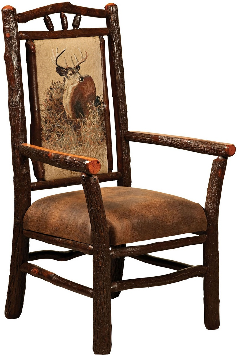 Chelsea Home Elian Hoosier Captain Arm Chair Hickory Twigs Red Oak