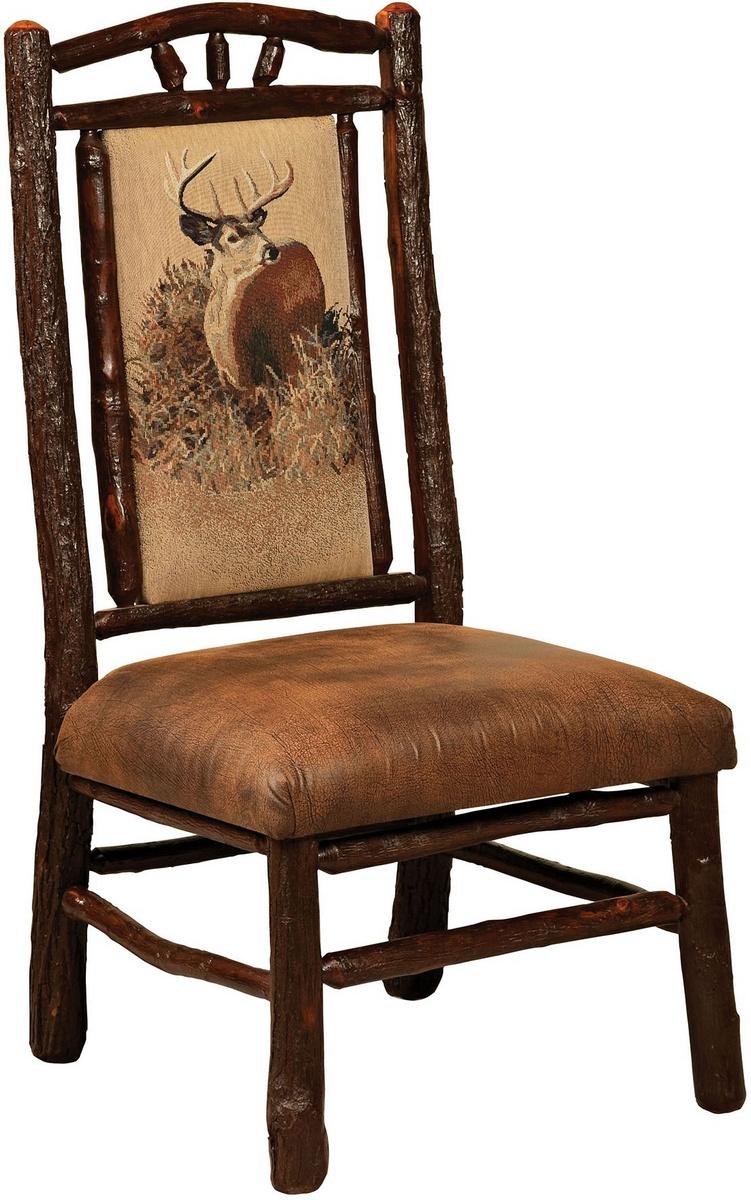 Chelsea Home Elian Hoosier Side Chair Fabric Hickory Twigs Red Oak