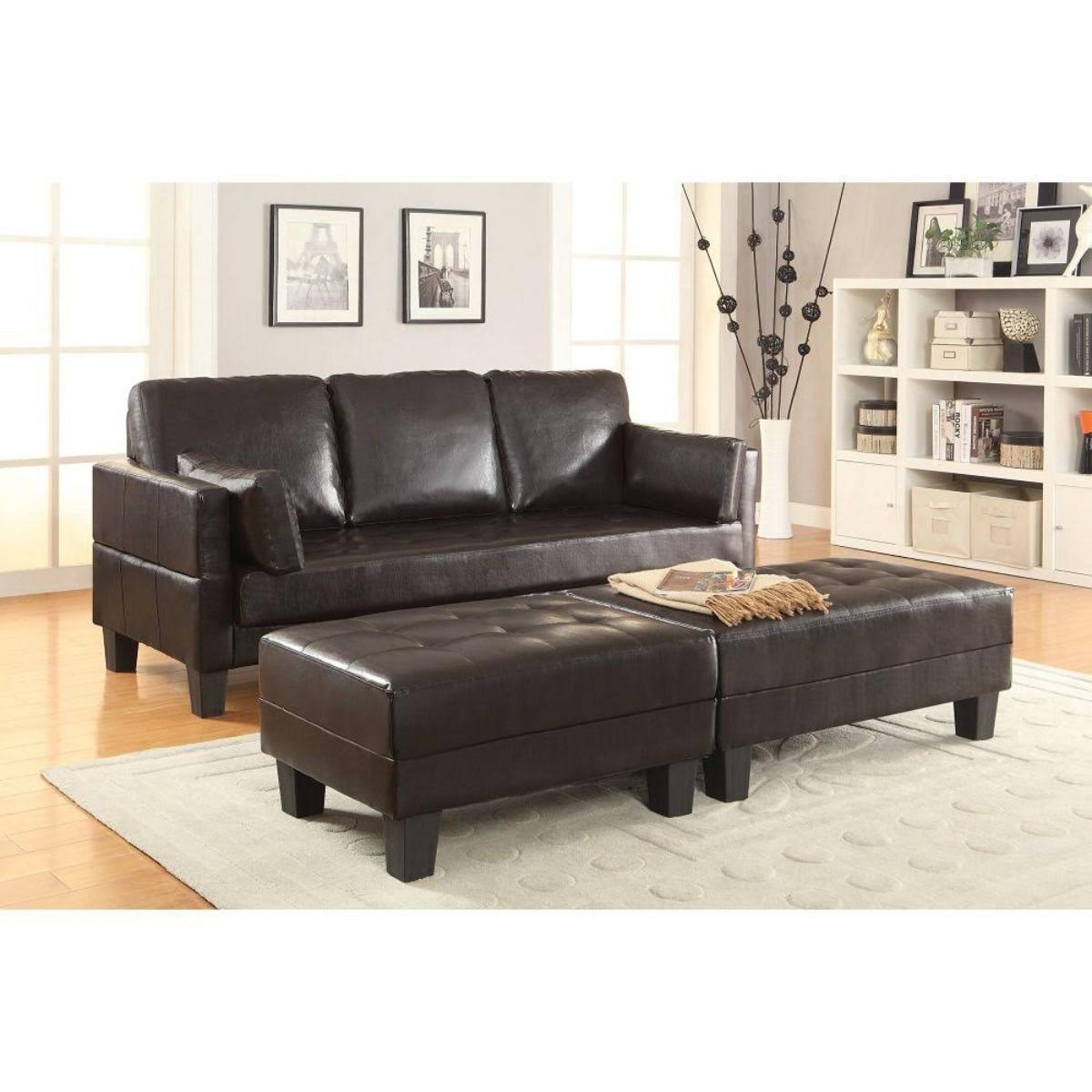 Coaster Ellesmere Brown Leatherette Sofa Bed