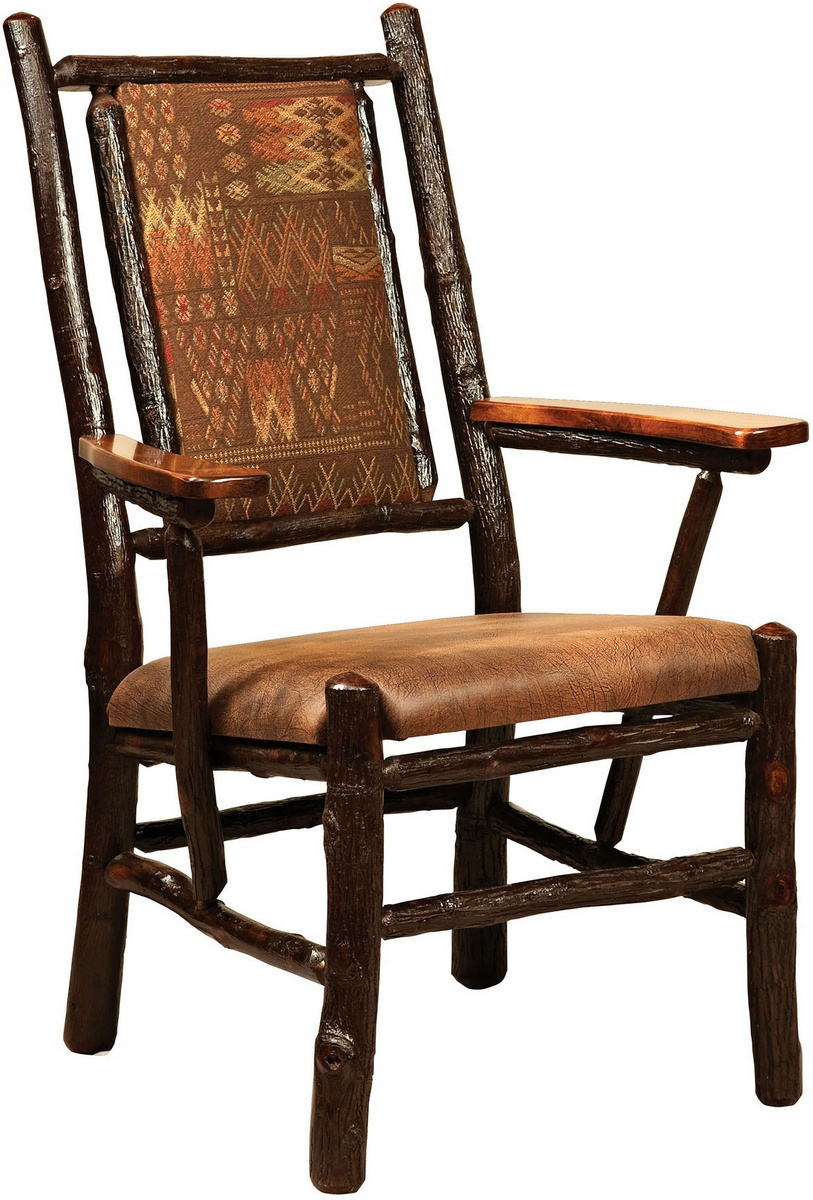 Chelsea Home Ellis Fireside Arm Chair Fabric Oak Stained