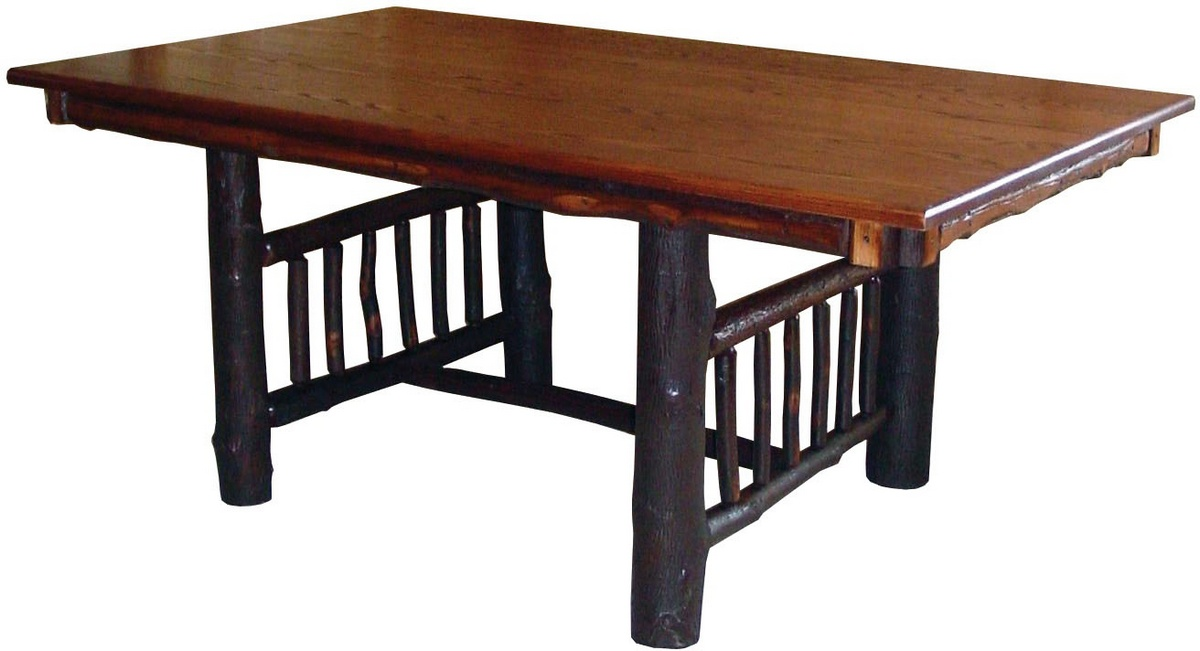 Chelsea Home Elvis Trestle Table Cherry Stain