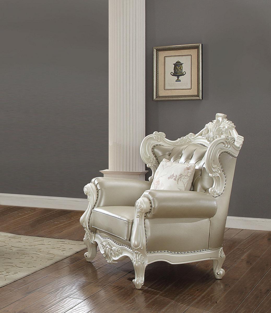 Acme Erigeron Chair Pillow Bone Tglm Antique Pearl