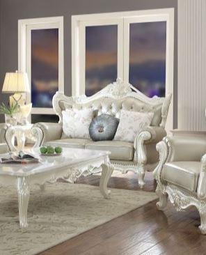 Acme Erigeron Loveseat Pillows Bone Tglm Antique Pearl