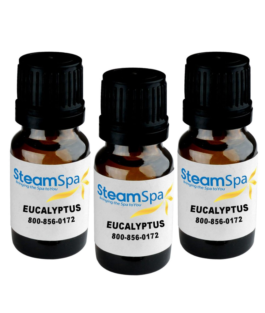 Essence of Eucalyptus Aromatherapy Oil Extract Value Pack - SteamSpa G-OILEUC3