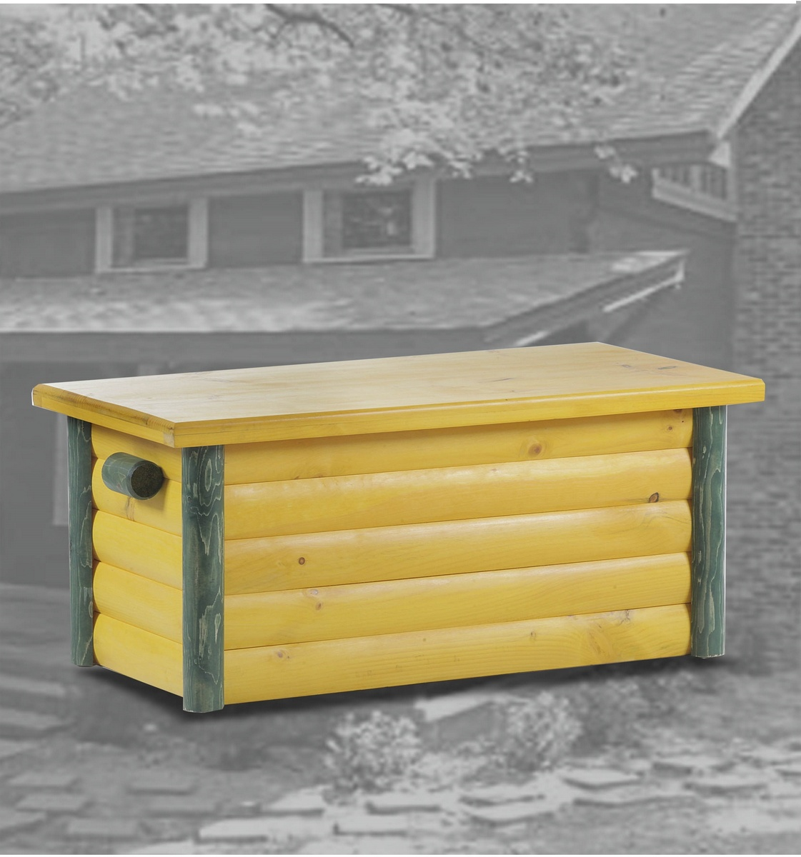 Chelsea Home Essex Ranch Hope Chest Yellow Green