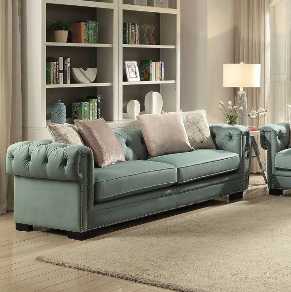 Acme Eulalia Sofa Pillows Polished Velvet