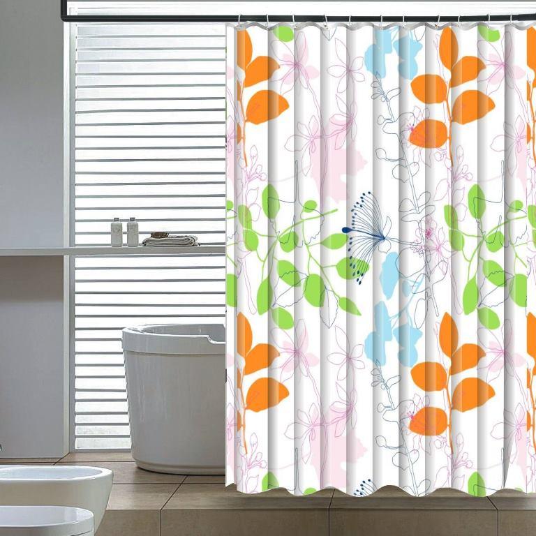 Floral Shower Curtain - Elegant Home Fashions SC-2796-6