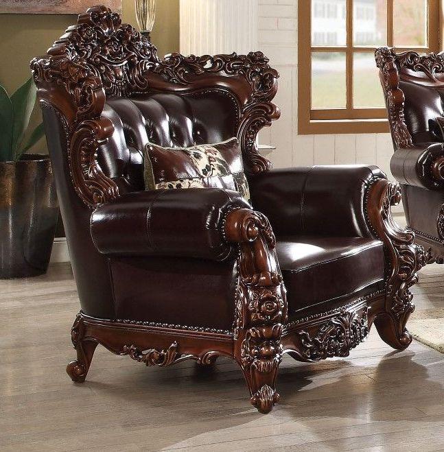 Acme Forsythia Chair Pillow Espresso Tglm Walnut