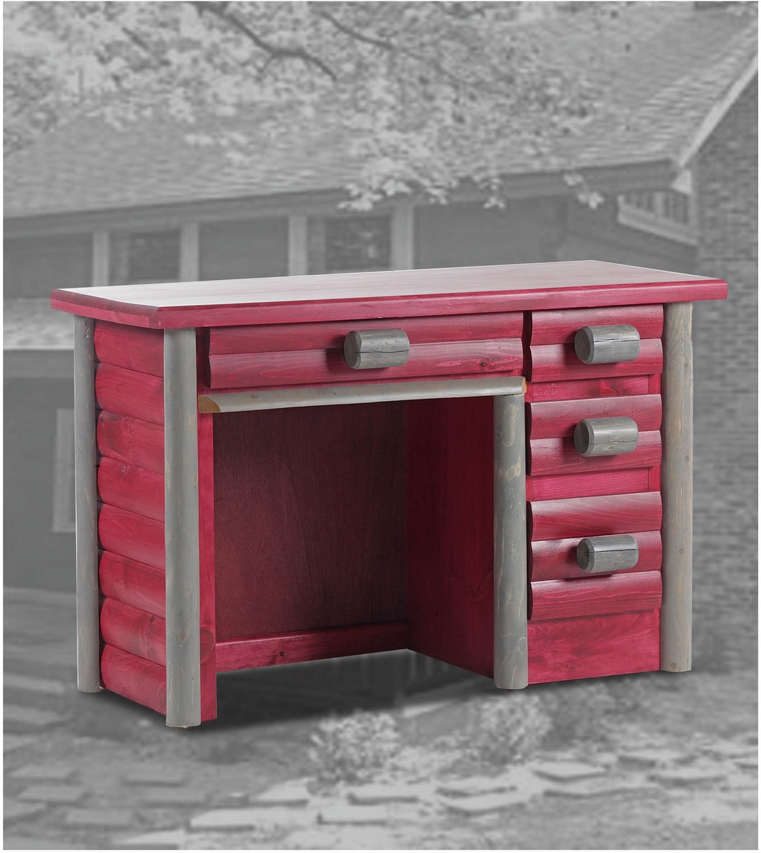 Chelsea Home Foxborough Ranch Desk Red Gunsmoke