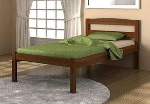 Full Econo Bed in Light Espresso - Donco 575-FE