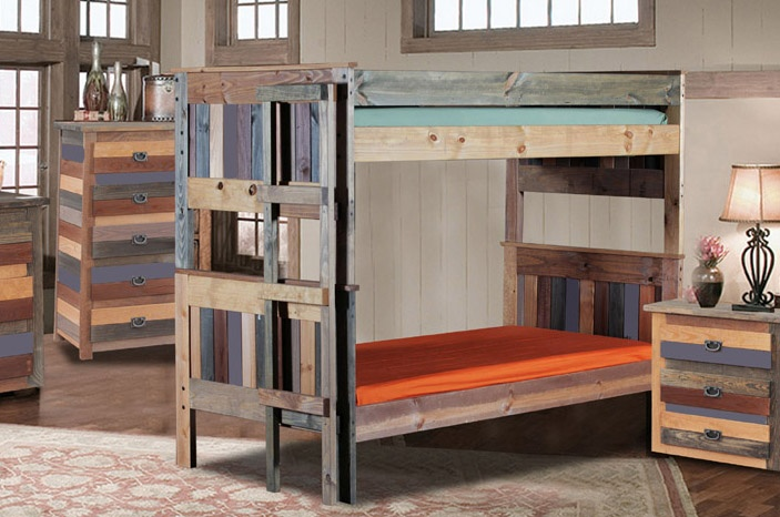 Chelsea Home Full Full Stackable Bunk Beds Multi Color