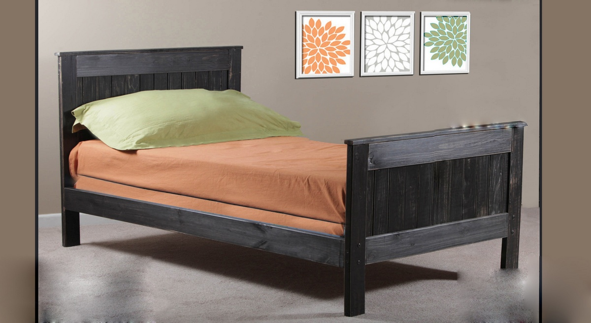 Chelsea Home Full Mates Bed Black Distressed