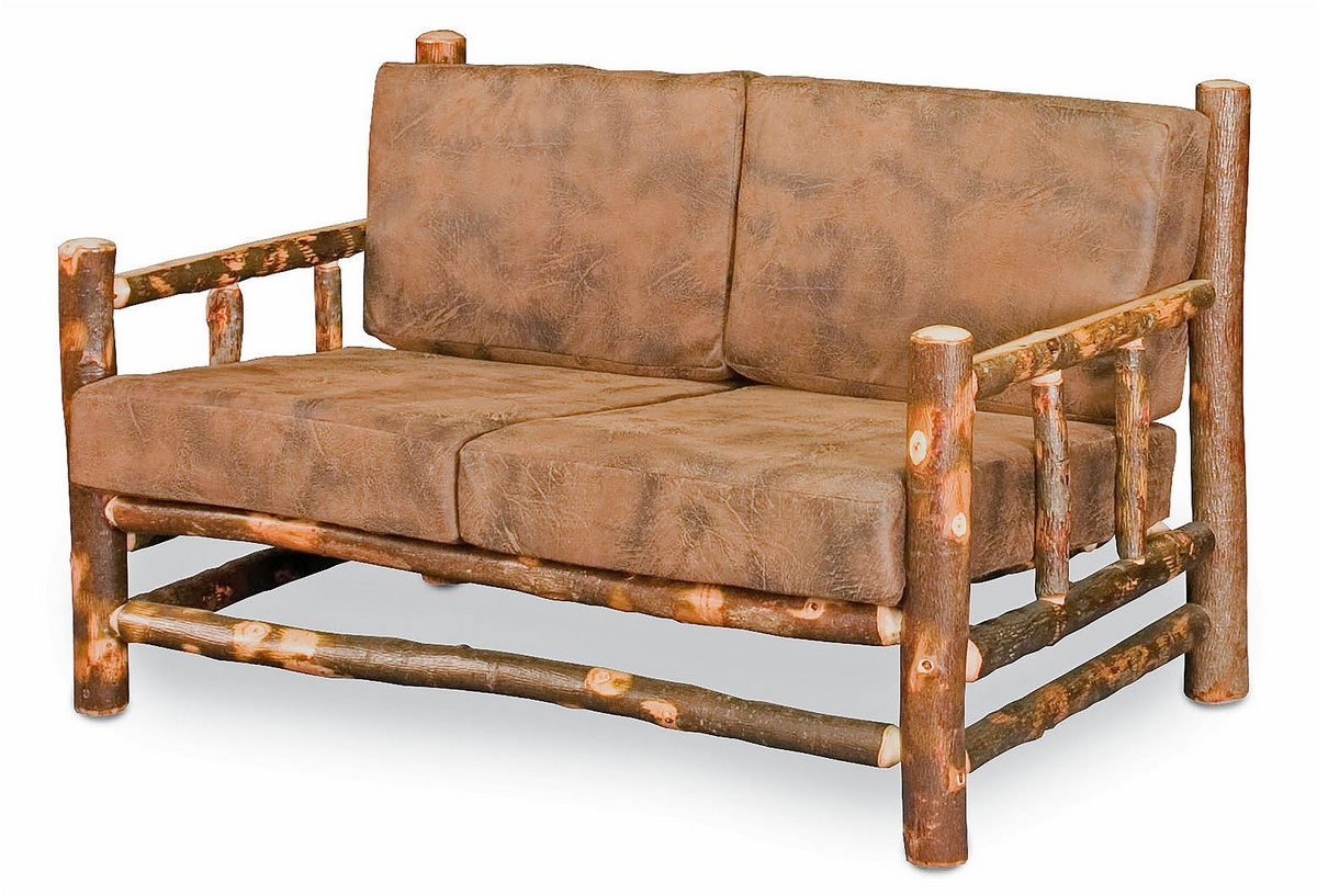 Chelsea Home Gaige Lodge Loveseat Cushions Natural Finish