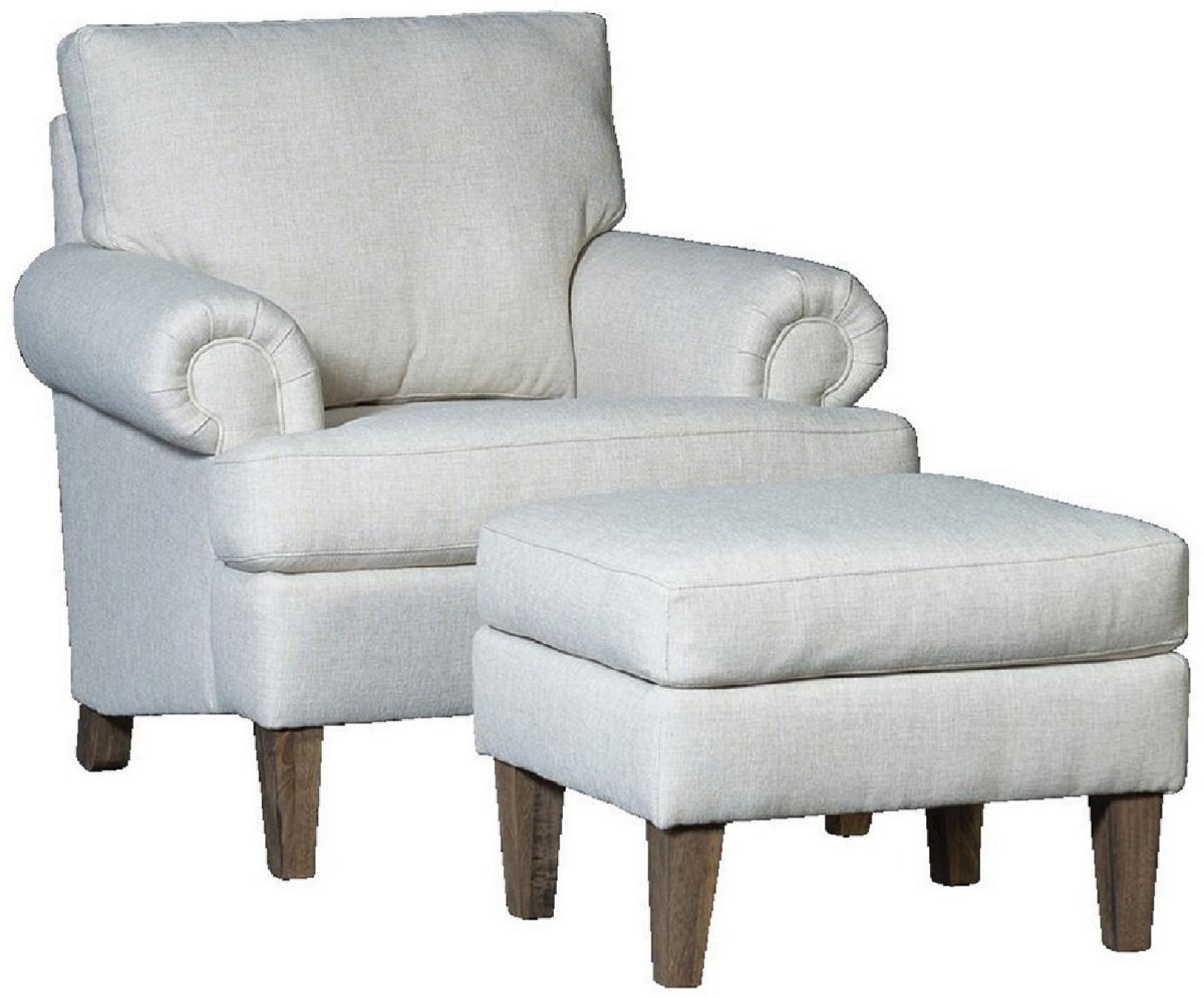 Chelsea Home Garrett Chair Ottoman Namaste Flax