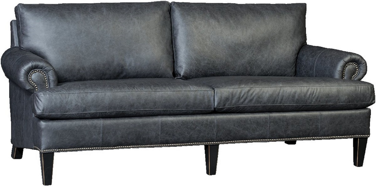Sofa Nickel Nailheads Omaha Night Sky