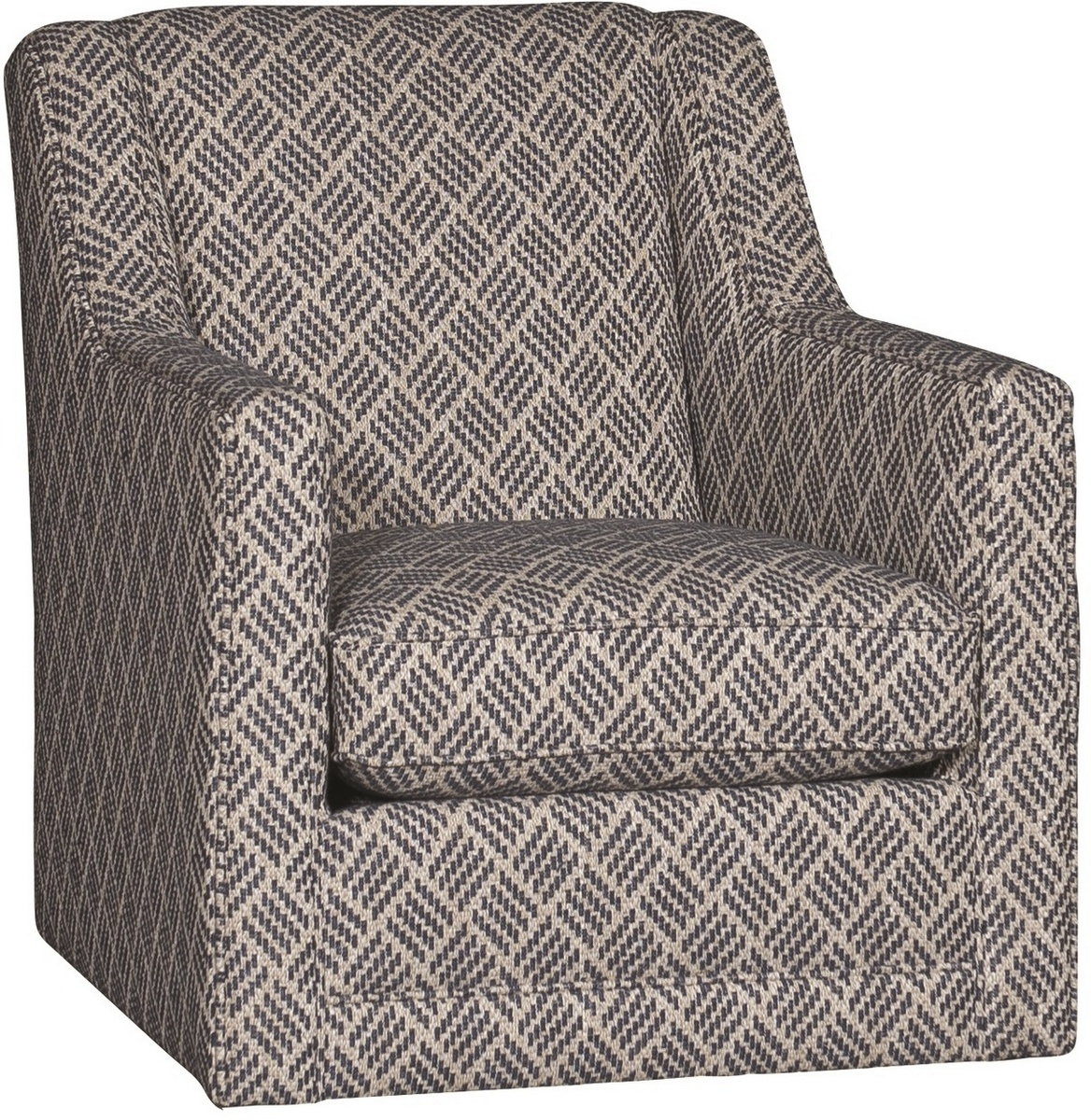 Chelsea Home Garson Swivel Glider Chair Parquet Indigo