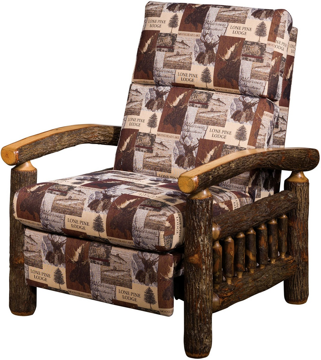 Chelsea Home Gauge Hickory Recliner Natural Finish