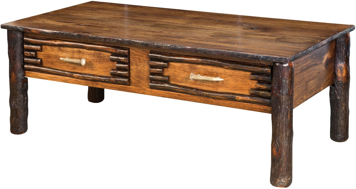 Chelsea Home Glenn Wildwood Coffee Table Asbury Brown Stain