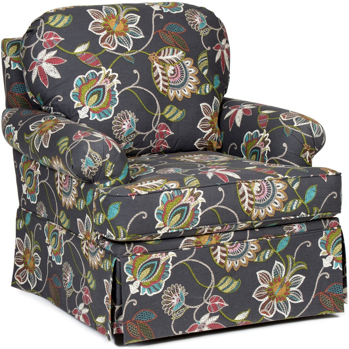 Chelsea Home Groton Swivel Glider Arm Chair Matador Rainbow