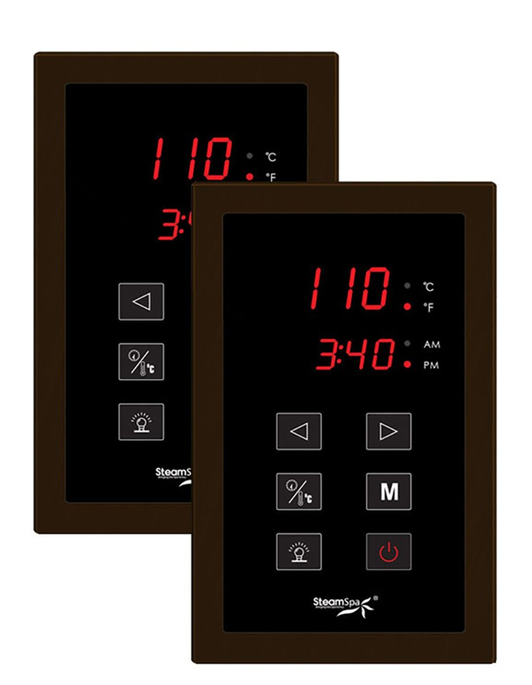 Steamspa H Panel Control System Oil Rubbed Bronze