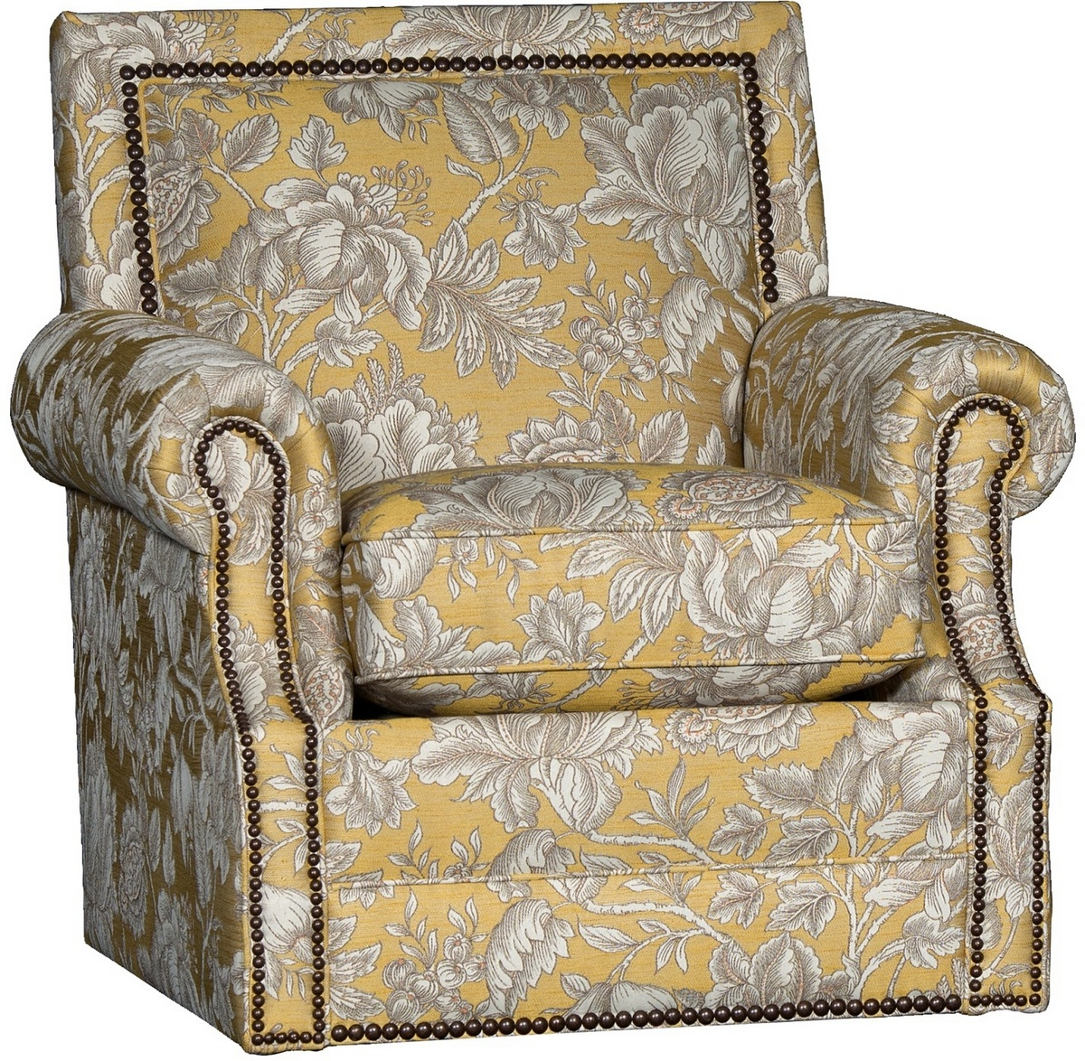 Chelsea Home Habib Swivel Chair Rowena Lemon