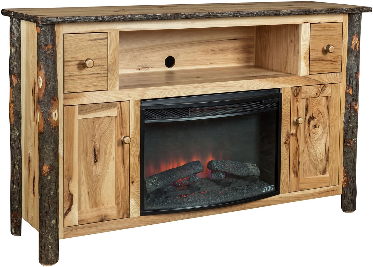 Chelsea Home Haden Fireplace Entertainment Hickory Natural