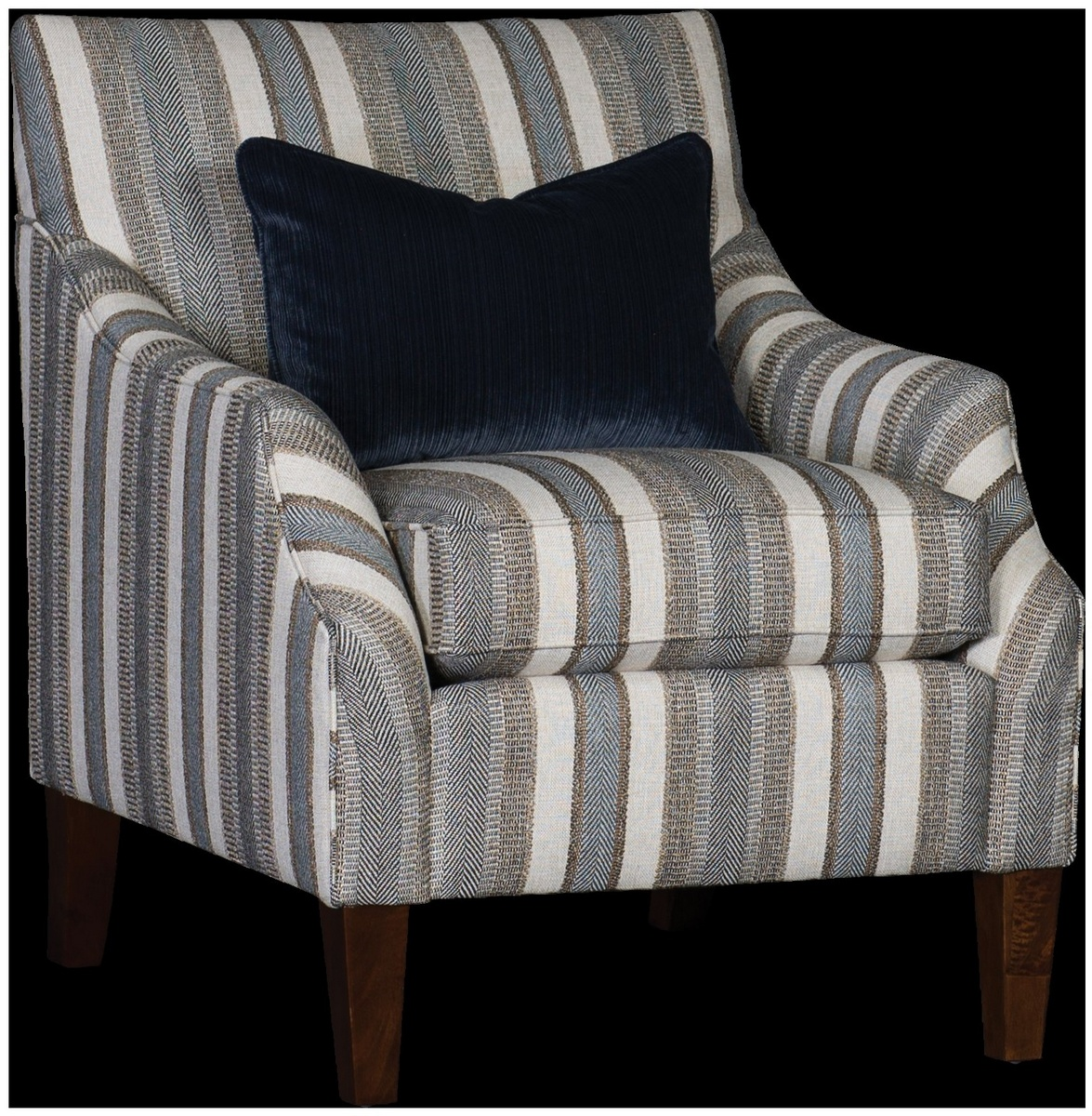 Chelsea Home Hades Chair Walnut Finish Abode Flannel