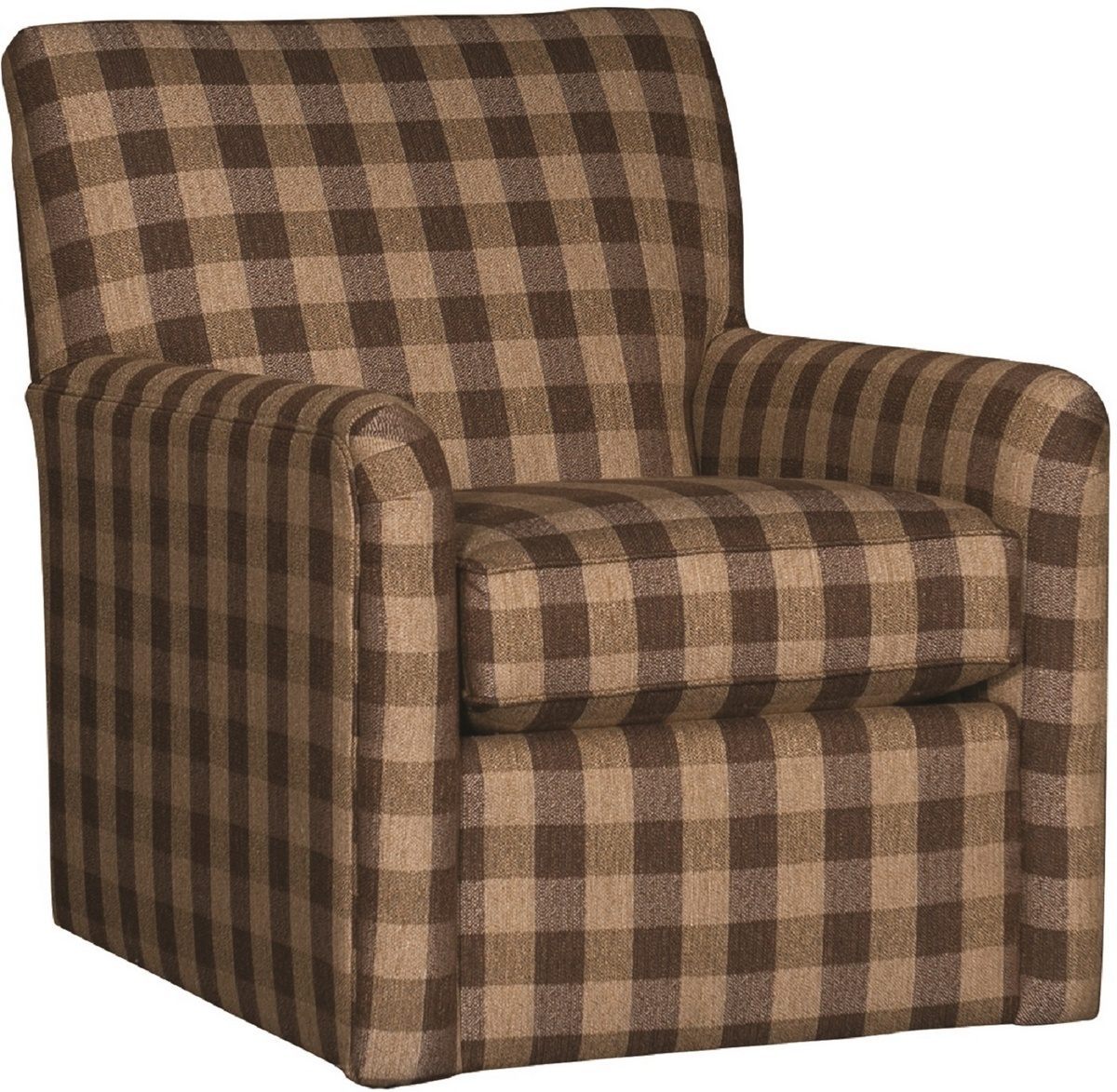 Chelsea Home Hadrian Swivel Glider Chair Buffalo Check Brown