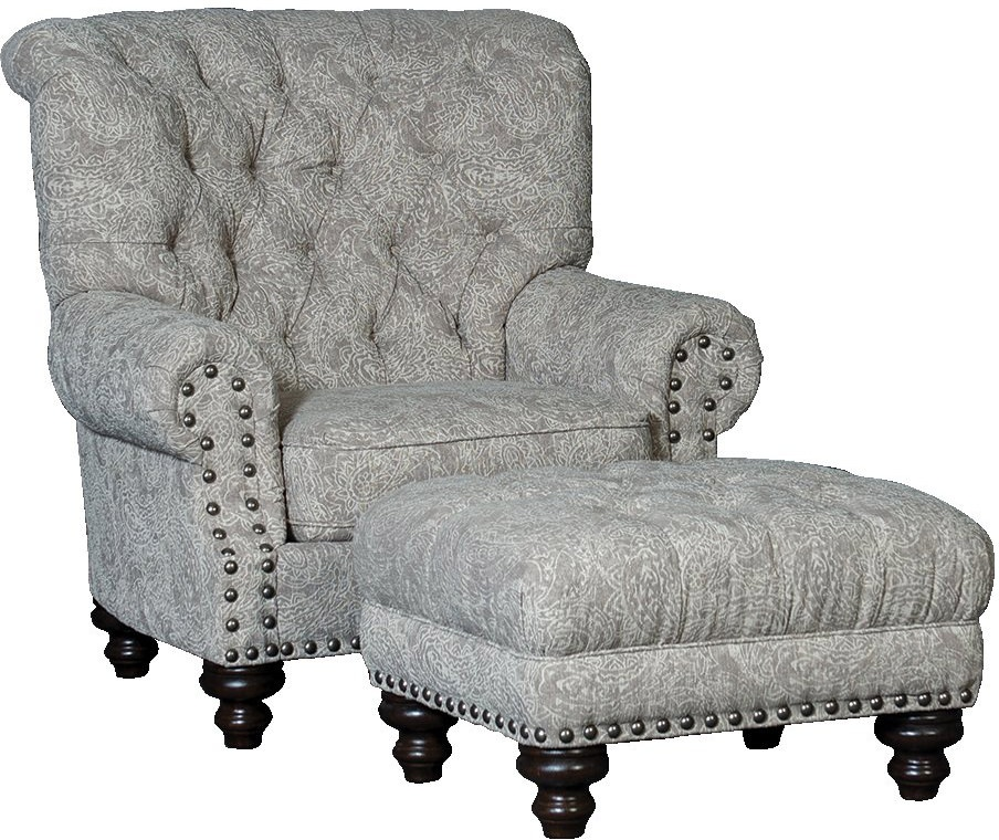 Chelsea Home Hall Chair Ottoman Holloway Stone