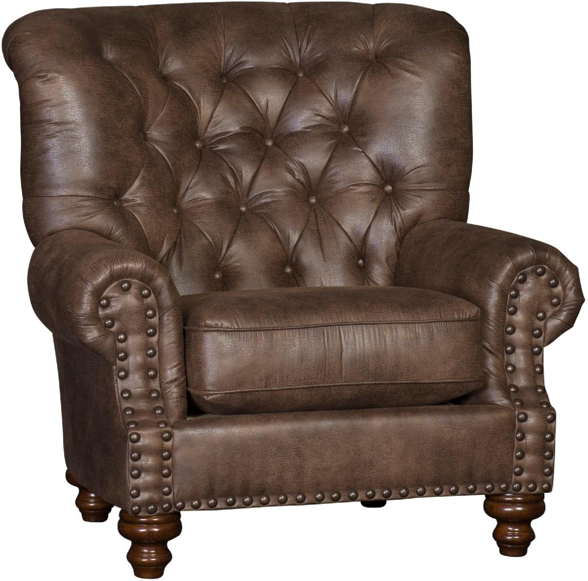 Chelsea Home Hall Chair Antique Nails Walnut Finish Vagabond Elk