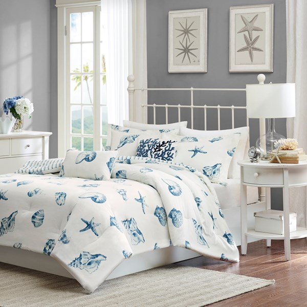 Harbor House Beach House King 3 Piece Duvet Cover Set in Blue - Olliix HH12-100