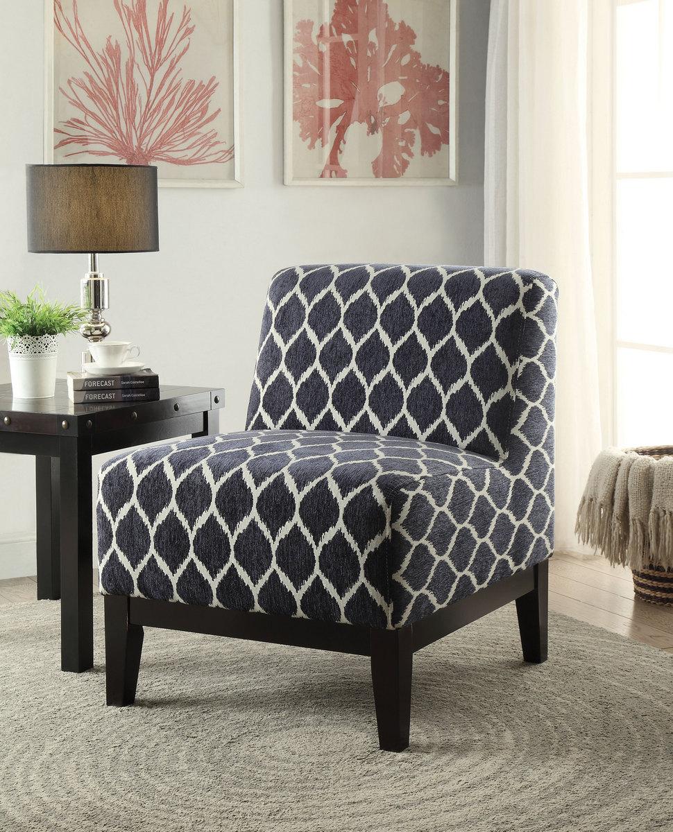 Furniture   Accent   Chair   Dark   Blue