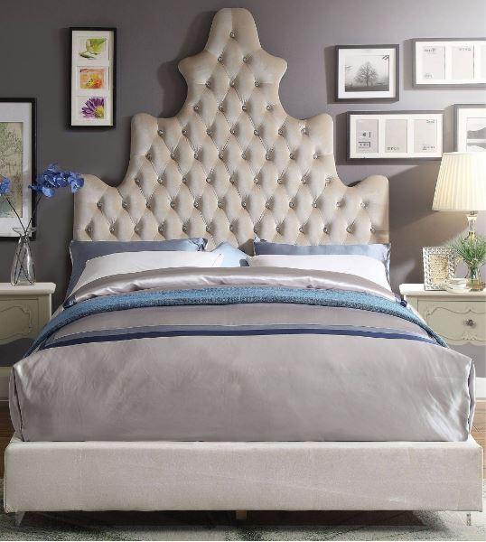 Acme Honesty Eastern King Bed Sand Plush
