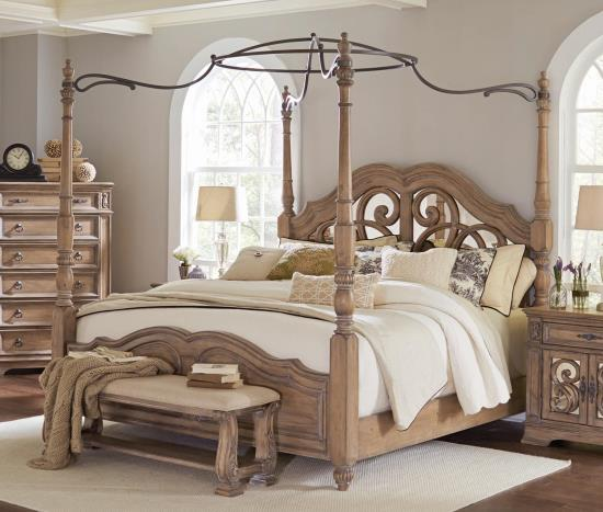 Coaster Queen Canopy Bed