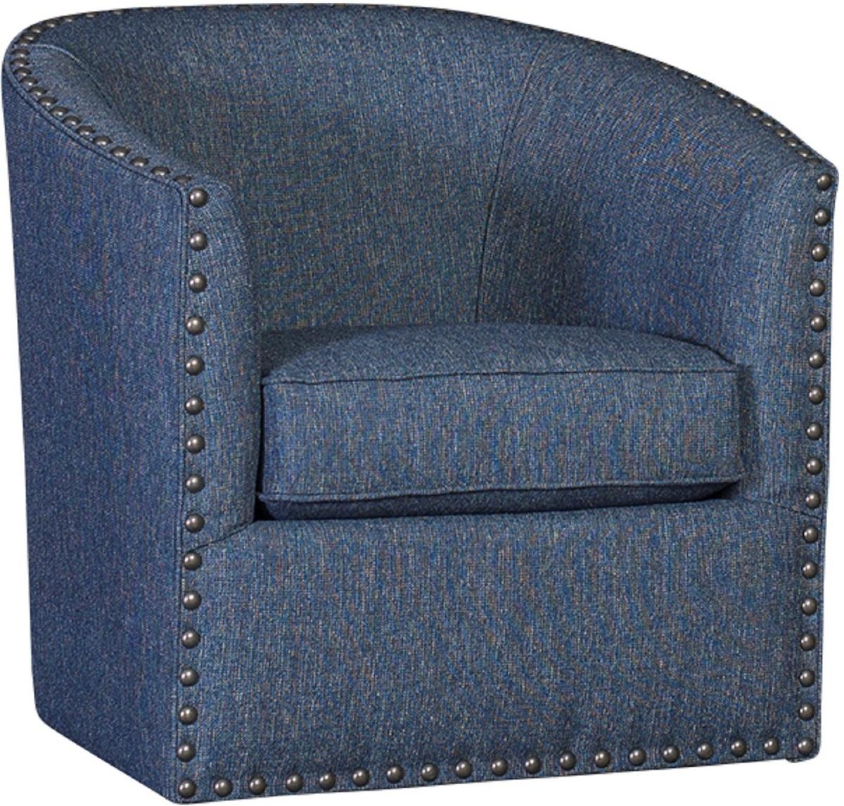 Chelsea Home Ilar Swivel Chair Highline Navy