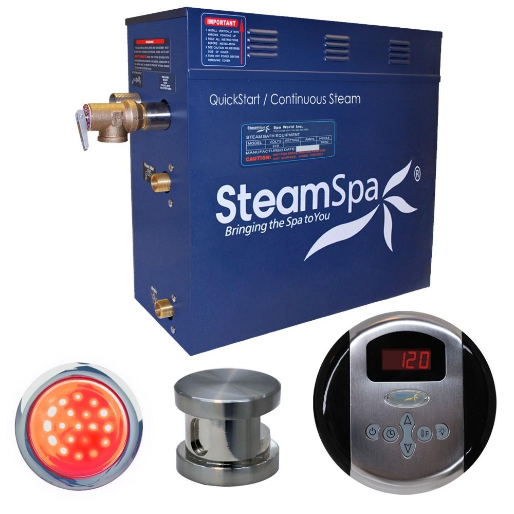Steamspa Steam Bath Generator Package Brushed Nickel