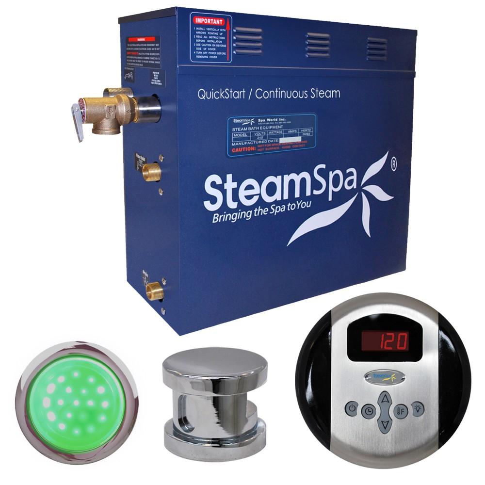 Steamspa Steam Bath Generator Package Polished Chrome