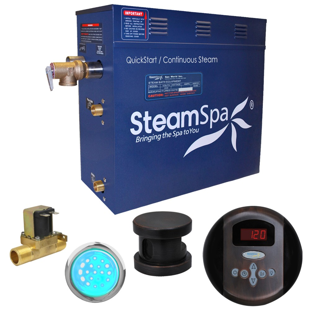 Steamspa Steam Bath Generator Package Built Auto Drain Oil Rubbed Bronze