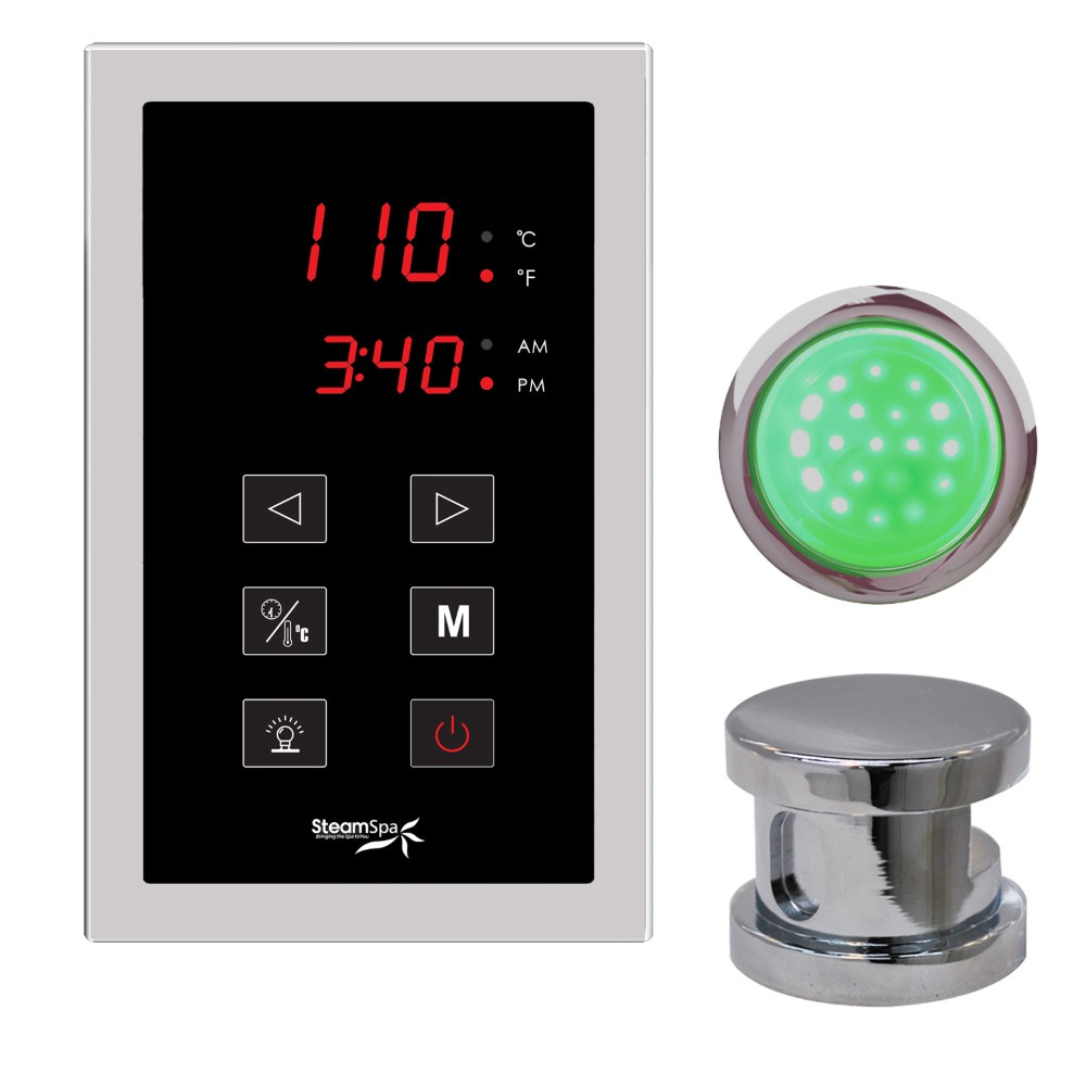 Steamspa Touch Panel Control Kit Chrome