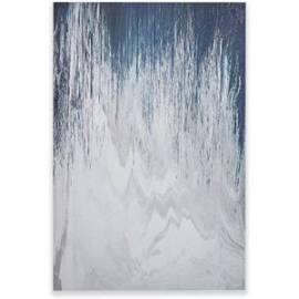 INK+IVY Abstracted Chevron Navy Canvas w/ Heavy Gel Coat in Blue - Olliix II95C-0069