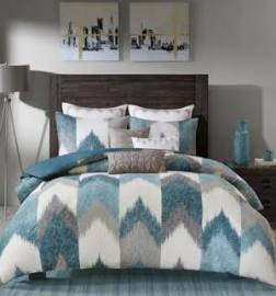 INK+IVY Alpine King/Cal King 3 Piece Comforter Mini Set in Aqua - Olliix II10-782