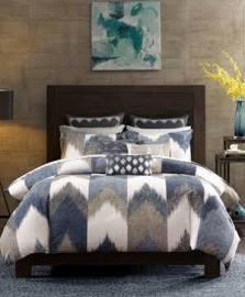 INK+IVY Alpine King/Cal King 3 Piece Comforter Mini Set in Navy - Olliix II10-553