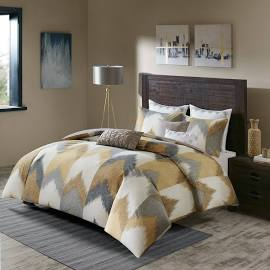 INK+IVY Alpine King/Cal King 3 Piece Comforter Mini Set in Yellow - Olliix II10-786