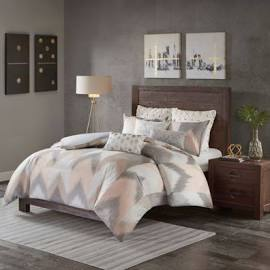 INK+IVY Alpine King/Cal King Cotton Comforter Mini Set in Blush - Olliix II10-932