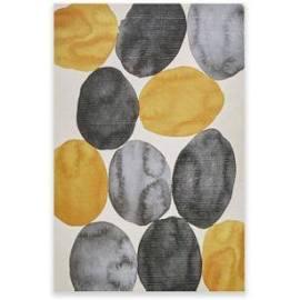 INK+IVY Amber Puzzle Gel Coat Printed Canvas in Yellow - Olliix II95C-0068