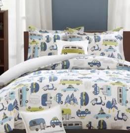 INK+IVY Kids Road Trip Full/Queen 4 Piece Comforter Set in Multi - Olliix IIK10-009