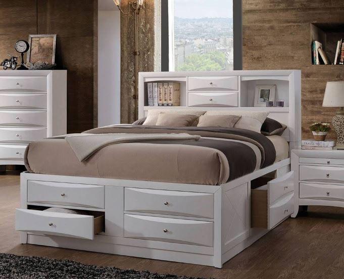 Acme Eastern King Bed Storage White