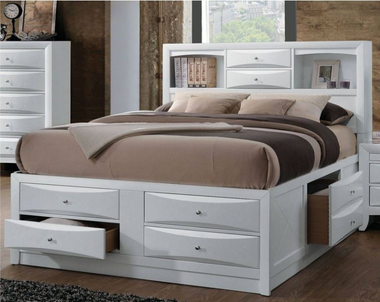 Acme Full Bed Storage White