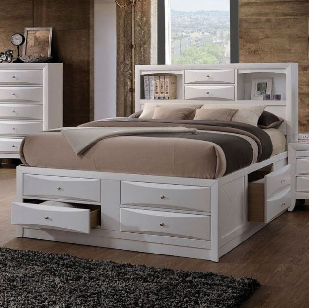 Acme Queen Bed Storage White